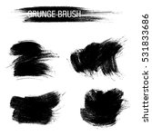 vector set of grunge brush... | Shutterstock .eps vector #531833686