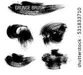 vector set of grunge brush... | Shutterstock .eps vector #531833710
