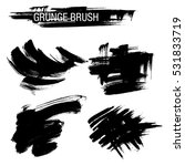 vector set of grunge brush...   Shutterstock .eps vector #531833719