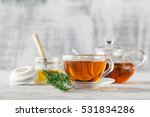 cup of thyme tea  fresh thyme... | Shutterstock . vector #531834286