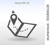 flat map icon.