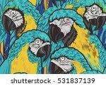 parrots seamless background.... | Shutterstock .eps vector #531837139