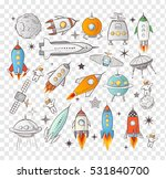 collection of sketchy space... | Shutterstock .eps vector #531840700