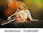 sweet little baby dreaming of... | Shutterstock . vector #531841069