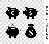 piggy bank    vector icon  set | Shutterstock .eps vector #531841783