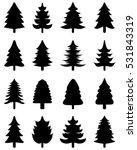 black silhouettes of  christmas ...   Shutterstock .eps vector #531843319