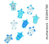 little turtles pattern. vector... | Shutterstock .eps vector #531844780