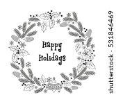 christmas greeting wreath.... | Shutterstock .eps vector #531846469