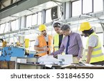supervisor with workers... | Shutterstock . vector #531846550