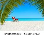 christmas santa claus relaxing... | Shutterstock . vector #531846760