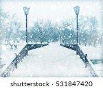 winter landscape in the park. | Shutterstock . vector #531847420