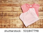 blank color t shirts on wooden... | Shutterstock . vector #531847798
