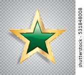 golden green star with... | Shutterstock .eps vector #531848008