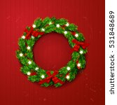 christmas greeting card with... | Shutterstock .eps vector #531848689