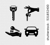 car key    vector icon  set | Shutterstock .eps vector #531852400