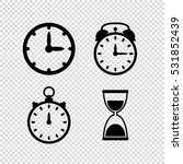 time  vector icon set | Shutterstock .eps vector #531852439