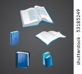 set of book icons   vector... | Shutterstock .eps vector #53185249