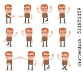 set of smart and cute character ... | Shutterstock .eps vector #531853159