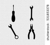 tools    vector icon set | Shutterstock .eps vector #531853378