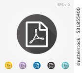 colored icon of pdf document... | Shutterstock .eps vector #531855400