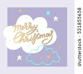 christmas and new year design... | Shutterstock .eps vector #531855658
