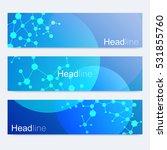 scientific set of modern vector ... | Shutterstock .eps vector #531855760