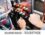 copper busbar. uninterrupted...   Shutterstock . vector #531857428