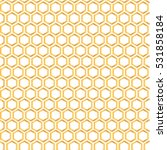 seamless pattern with golden... | Shutterstock .eps vector #531858184