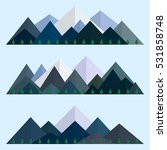 mountains low poly style set.... | Shutterstock .eps vector #531858748