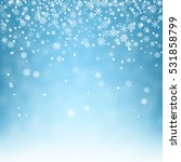 flying snowflakes on a light... | Shutterstock .eps vector #531858799
