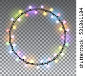 circle colorful glowing... | Shutterstock .eps vector #531861184