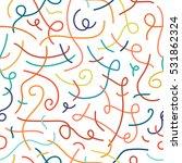colorful memphis seamless... | Shutterstock .eps vector #531862324