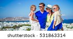 family vacation on mykonos... | Shutterstock . vector #531863314