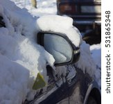 side mirror of the car in the...   Shutterstock . vector #531865348