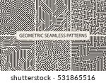 collection of striped seamless... | Shutterstock .eps vector #531865516