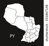 paraguay departments map black...   Shutterstock .eps vector #531867148