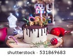 homemade cake decorated with...   Shutterstock . vector #531869683