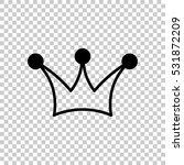 crown icon. black icon on...