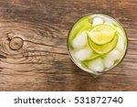 refreshing lemonade with green...   Shutterstock . vector #531872740