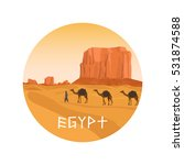 circle isolated icon with egypt ...