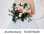 Bride Holding Wedding Bouquet ...