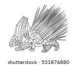 steampunk style porcupine.... | Shutterstock .eps vector #531876880