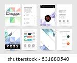 geometric background template... | Shutterstock .eps vector #531880540
