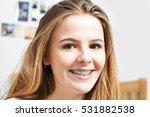 portrait of smiling teenage...   Shutterstock . vector #531882538