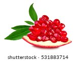 pomegranate isolated on white... | Shutterstock . vector #531883714
