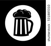 glass beer icon illustration... | Shutterstock .eps vector #531885310
