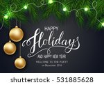 holidays greeting card for... | Shutterstock .eps vector #531885628
