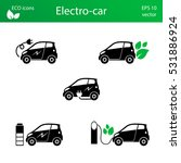 set of electric car icons. eps... | Shutterstock .eps vector #531886924