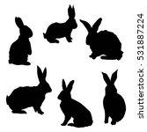 silhouette rabbit   vector ... | Shutterstock .eps vector #531887224