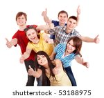 group people showing thumbs up. ... | Shutterstock . vector #53188975